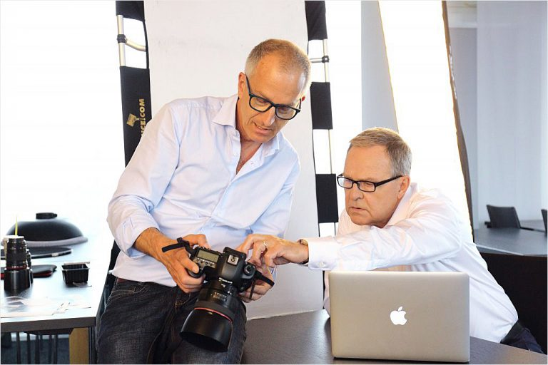 Stefan Obermeier, Besprechung am Set, Businessfoto, Fotoshooting, Wolfgang Heubisch, Politik